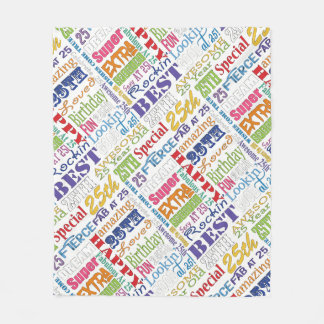 Unique And Special 25th Birthday Party Gifts Fleece Blanket