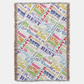 Unique And Special 25th Birthday Party Gifts Throw Blanket