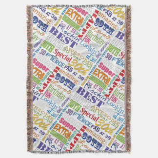 Unique And Special 30th Birthday Party Gifts Throw Blanket