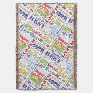 Unique And Special 40th Birthday Party Gifts Throw Blanket