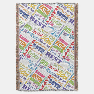 Unique And Special 50th Birthday Party Gifts Throw Blanket