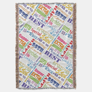 Unique And Special 55th Birthday Party Gifts Throw Blanket