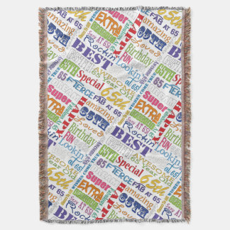 Unique And Special 65th Birthday Party Gifts Throw Blanket
