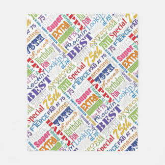 Unique And Special 75th Birthday Party Gifts Fleece Blanket