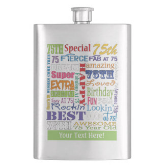 Unique And Special 75th Birthday Party Gifts Hip Flask
