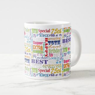 Unique And Special 75th Birthday Party Gifts Large Coffee Mug