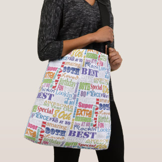 Unique And Special 80th Birthday Party Gifts Crossbody Bag