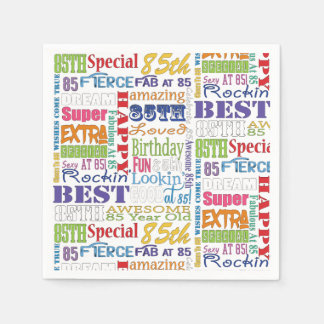 Unique And Special 85th Birthday Party Gifts Disposable Napkin