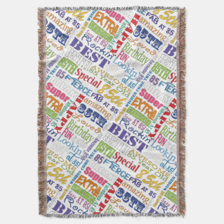 Unique And Special 85th Birthday Party Gifts Throw Blanket
