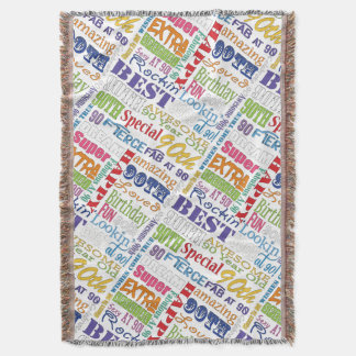 Unique And Special 90th Birthday Party Gifts Throw Blanket