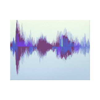 Unique and stylish canvas of a sound wave. Music Canvas Print