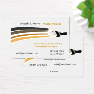 Unique Artist Professional House Painters Business Card