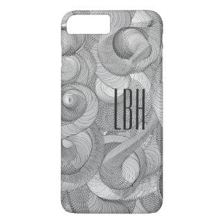 Unique Artwork with Custom Monogram iPhone 7 Plus Case