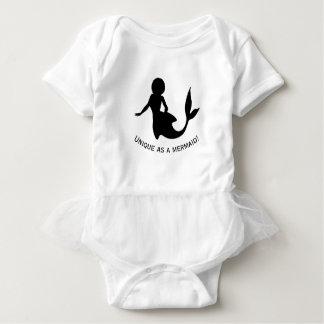 Unique as a mermaid gorgeous design! baby bodysuit
