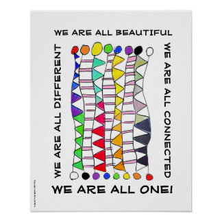 Unique beautiful & one diversity celebration poster