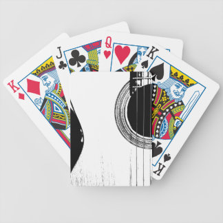 Unique Black and White Abstract Acoustic Guitar Bicycle Playing Cards