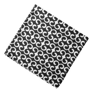 Unique Black and White Pattern Bandana