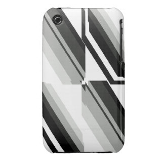 Unique Black-and-White Pattern iPhone 3 Case