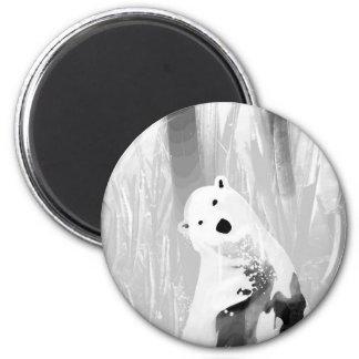 Unique Black and White Polar Bear Design 6 Cm Round Magnet
