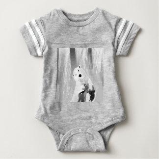 Unique Black and White Polar Bear Design Baby Bodysuit