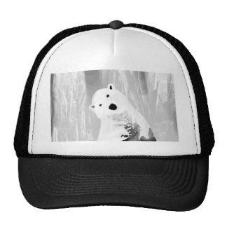 Unique Black and White Polar Bear Design Cap