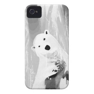 Unique Black and White Polar Bear Design Case-Mate iPhone 4 Cases