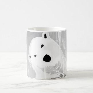 Unique Black and White Polar Bear Design Coffee Mug