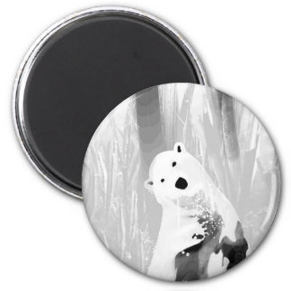 Unique Black and White Polar Bear Design Magnet