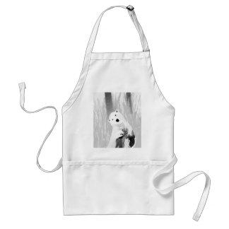 Unique Black and White Polar Bear Design Standard Apron
