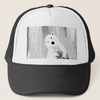 Unique Black and White Polar Bear Design Trucker Hat