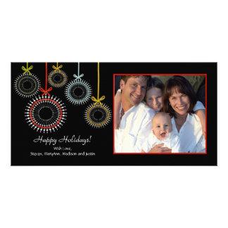 Unique Black Christmas Oraments Photo Card