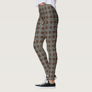Unique Black Geometric Print Pattern Leggings