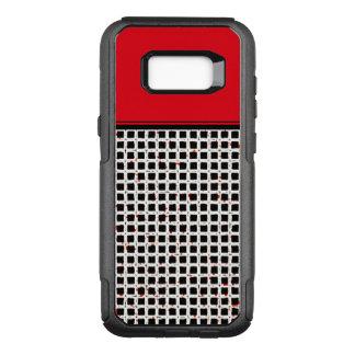 Unique Black White Red Pattern Chic & Stylish OtterBox Commuter Samsung Galaxy S8+ Case