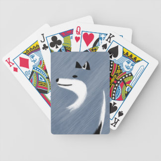 Unique Blue Fox Design Bicycle Playing Cards