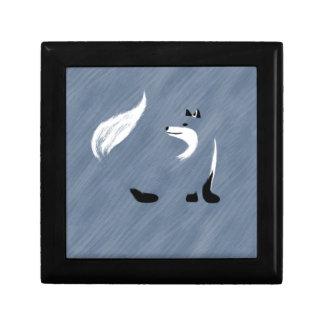 Unique Blue Fox Design Gift Box