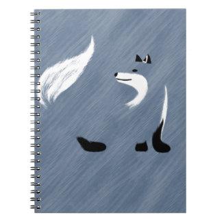 Unique Blue Fox Design Notebook