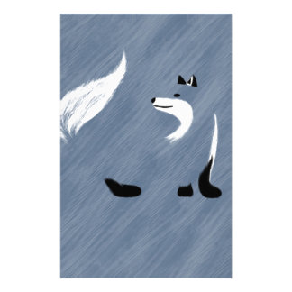 Unique Blue Fox Design Stationery