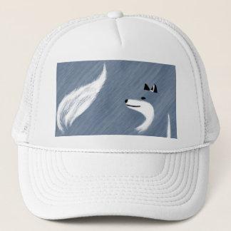Unique Blue Fox Design Trucker Hat