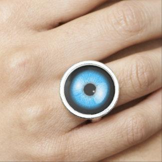 Unique Blue Realistic Eyeball Halloween Ring