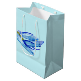 Unique Bluebell Watercolour Painting Gift Bag