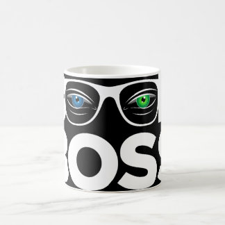 Unique Book Boss-Blue and Green Sharp Eyes-Reading Coffee Mug