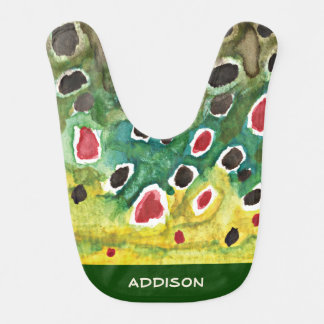 Unique Brown Trout Fly Fishing - Personalized Bib