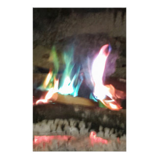 Unique Campfire Flames Of Color Customized Stationery