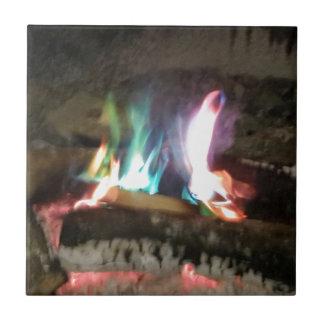 Unique Campfire Flames Of Color Small Square Tile