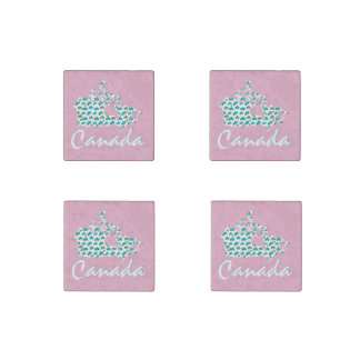 Unique Canadian Maple Canada fridge magnet pink