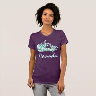 Unique Canadian Maple Canada leaf  shirt purple