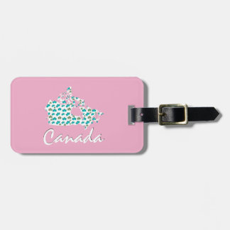 Unique Canadian Maple Canada  luggage tag pink