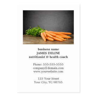 Unique Carrots Health Organic Farm Pack Of Chubby Business Cards