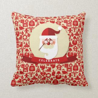 Unique Celebrate Christmas with Santa Cushion