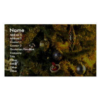 Unique Christmas tree ornaments Business Card Template